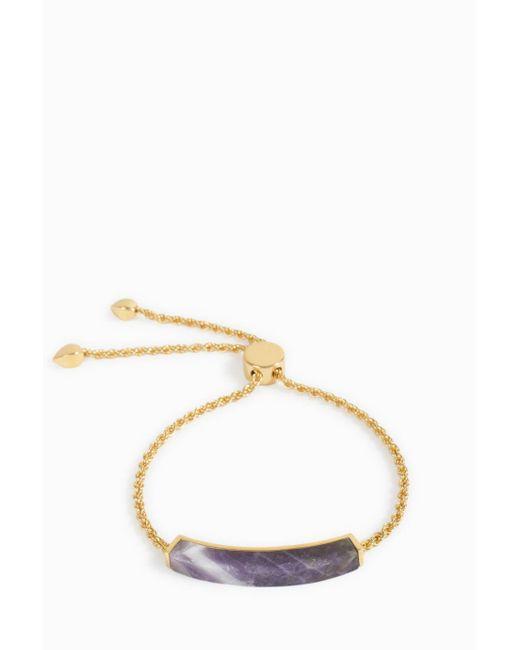 Monica Vinader | Metallic Linear Stone Chain Bracelet | Lyst
