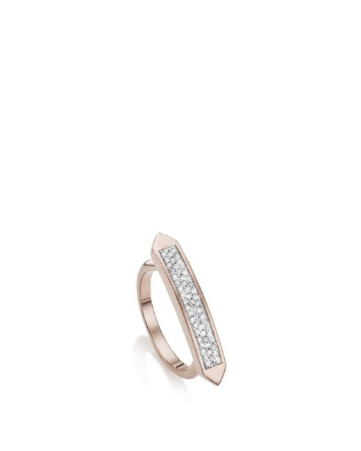 Monica Vinader - Metallic Rp Baja Skinny Ring - Diamond - Lyst