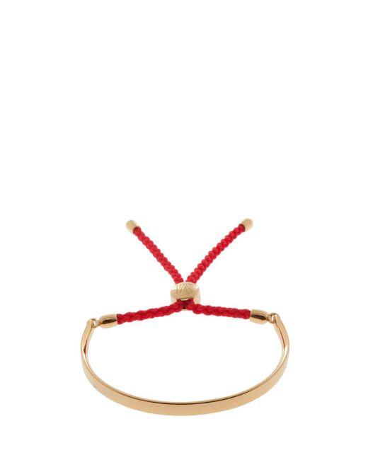 Monica Vinader - Red Fiji Friendship Bracelet, Size Os, Women, Metallic - Lyst
