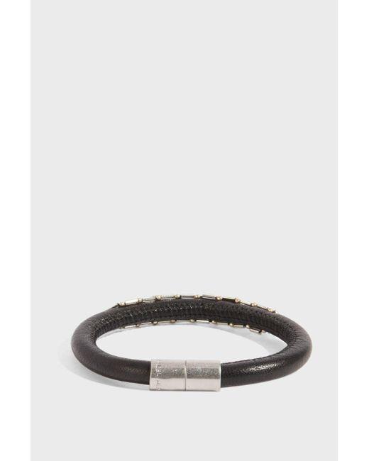 Isabel Marant - Forever Leather Bracelet, Size 1, Women, Black - Lyst