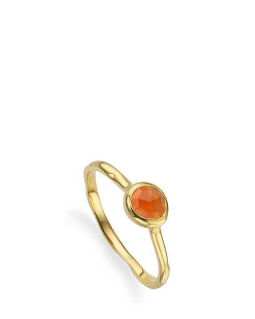 Monica Vinader - Metallic Small Siren Stacking Ring - Lyst