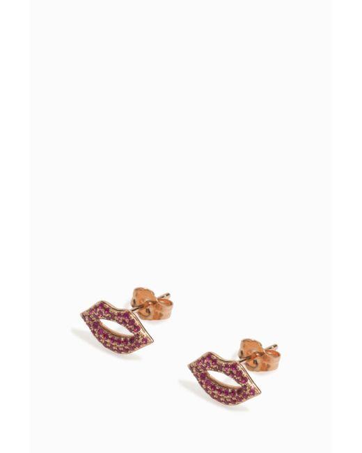 Sydney Evan | Multicolor Lip Earrings | Lyst