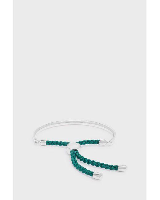 Monica Vinader | Green Fiji Bracelet Silver | Lyst