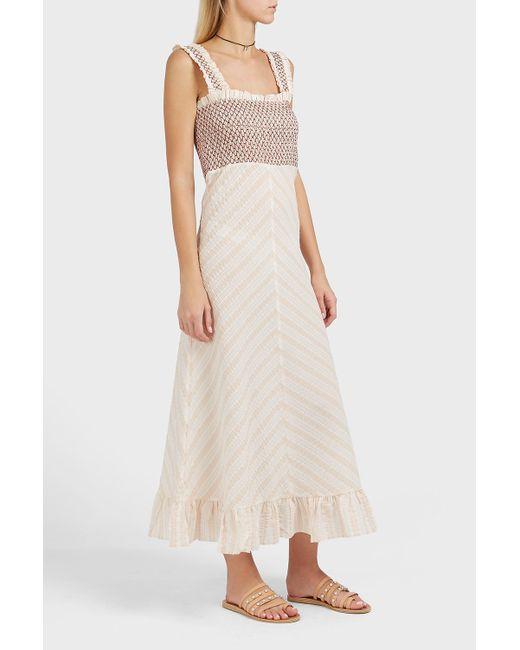 ganni multicolor charron tartan cottonblend dress lyst