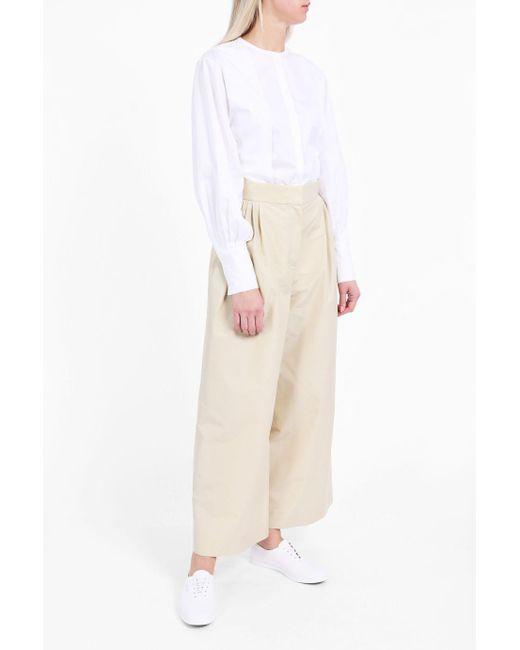 The Row   White Painter Collarless Shirt   Lyst
