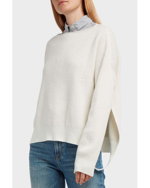 Helmut Lang | Multicolor Ribbed Cotton, Wool And Cashmere-blend Jumper | Lyst