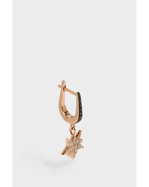 Diane Kordas - Metallic Rose Gold & Diamond Explosion Earring, Os - Lyst