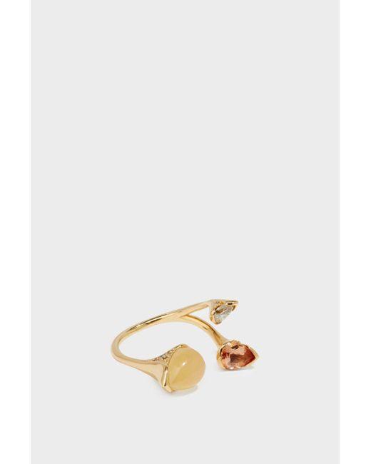 Fernando Jorge | Metallic 18-karat Gold Diamond, Imperial Topaz And Calcite Ring | Lyst