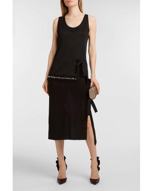 Altuzarra - Black Bow-embellished Lurex Skirt - Lyst