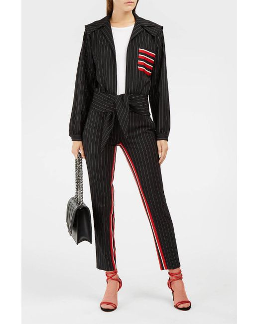Marco De Vincenzo | Black Twill-panelled Pinstriped Stretch-wool Jacket | Lyst