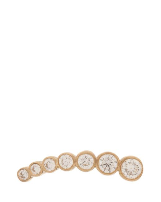 Sophie Bille Brahe - Multicolor Croissant De Diamond Earring, Os - Lyst