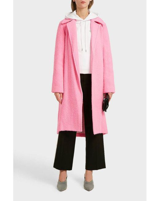 Helmut Lang - Pink Wool And Cashmere-blend Coat - Lyst