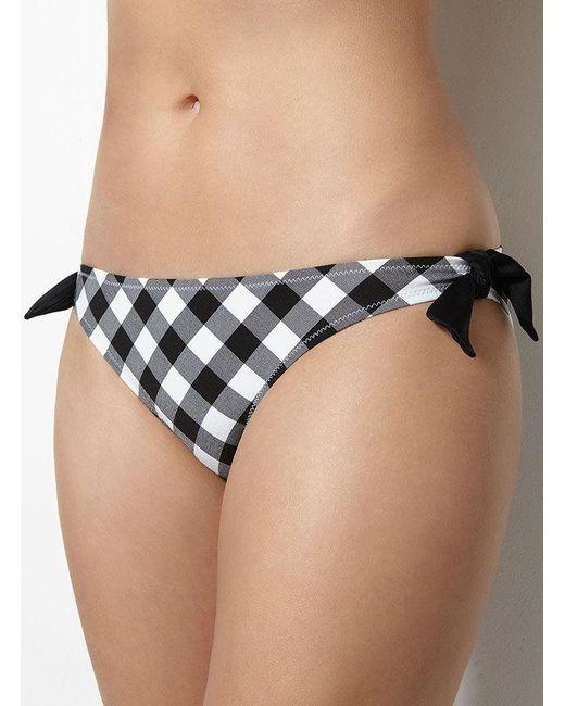 Boux Avenue | Black Italy Check Bikini Briefs | Lyst