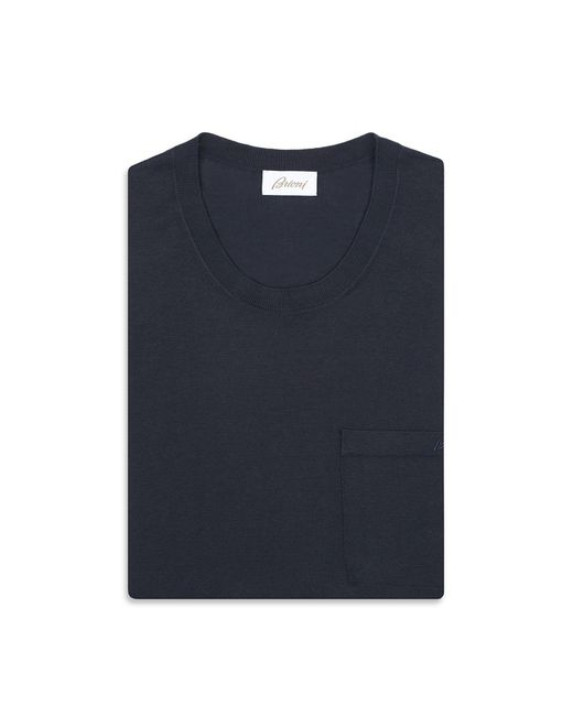 1014465a8 Lyst - Brioni Navy Blue T-shirt in Blue for Men
