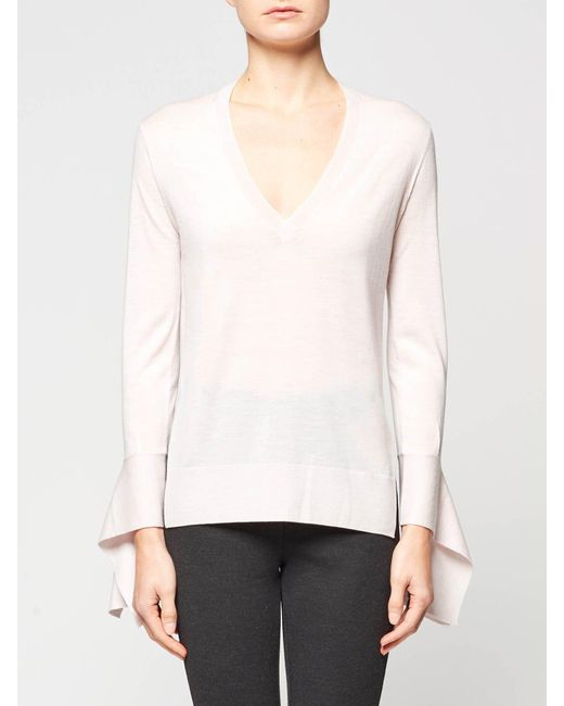 Brochu Walker | White The Demi Vee Pullover | Lyst
