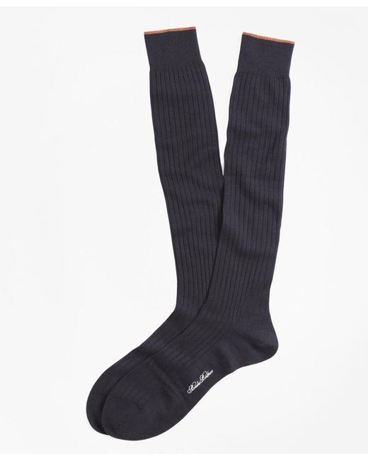 Brooks Brothers | Blue Merino Wool Golden Fleece® Sized Over-the-calf Socks for Men | Lyst