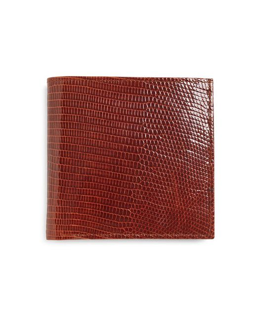 Brooks Brothers - Brown Lizard Euro Wallet for Men - Lyst
