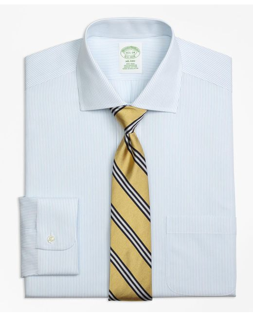 Brooks Brothers | Blue Non-iron Milano Fit Mini Pinstripe Dress Shirt for Men | Lyst