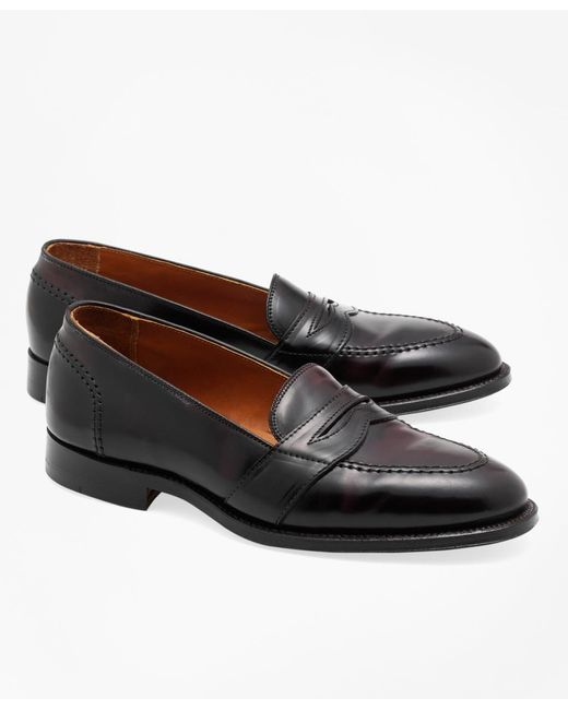 Brooks Brothers | Purple Cordovan Low Vamp Loafers for Men | Lyst