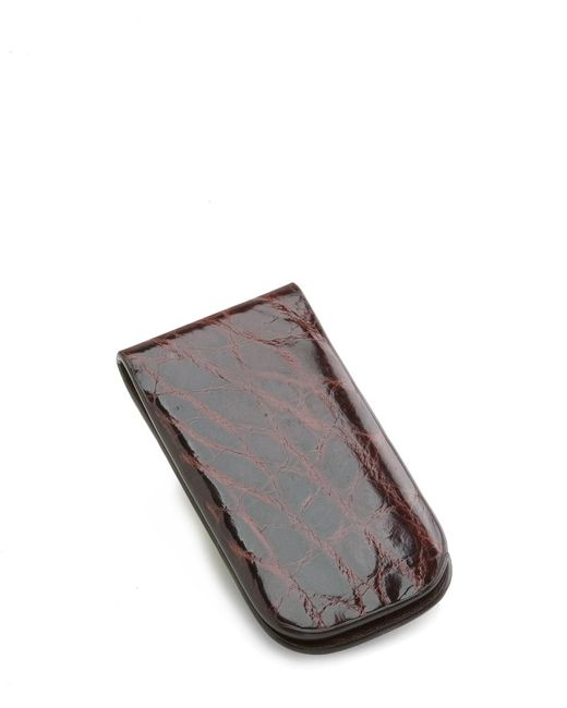 Brooks Brothers - Brown American Alligator Money Clip for Men - Lyst