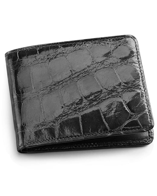 Brooks Brothers | Black Alligator Card Case With Money Clip for Men | Lyst