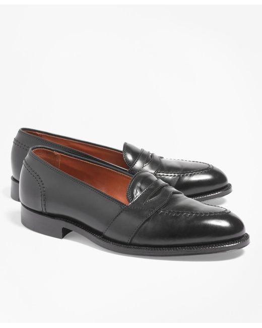 Brooks Brothers - Black Cordovan Low Vamp Loafers for Men - Lyst
