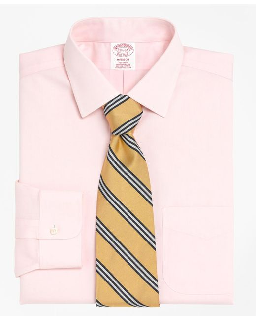 Brooks Brothers - Pink Non-iron Madison Fit Spread Collar Dress Shirt for Men - Lyst