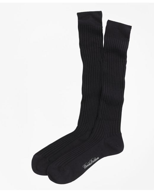 Brooks Brothers - Blue Merino Wool Ribbed Over-the-calf Socks for Men - Lyst