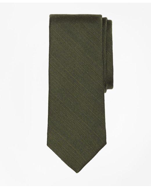 Brooks Brothers - Green Melange Herringbone Tie for Men - Lyst