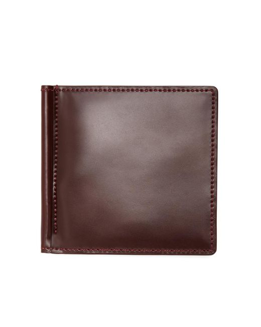 Brooks Brothers - Brown Cordovan Wallet With Money Clip for Men - Lyst
