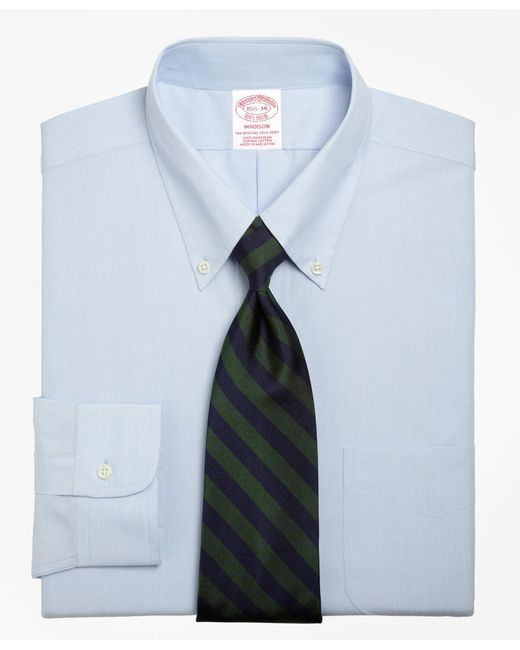Brooks Brothers - Blue Madison Fit Button-down Collar Dress Shirt for Men - Lyst