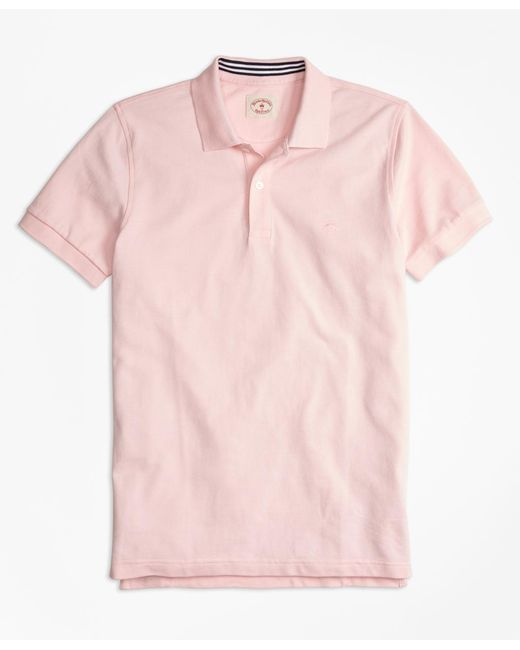 Brooks Brothers - Pink Solid Pique Polo Shirt for Men - Lyst