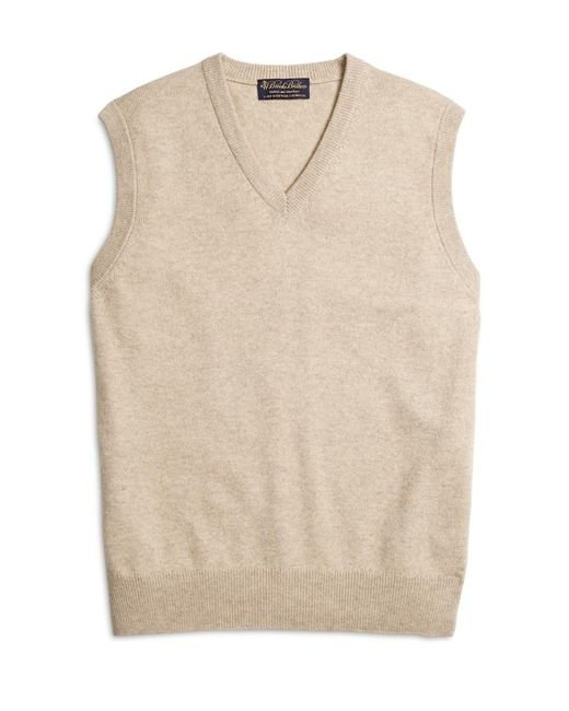 Brooks Brothers | Natural Cashmere Sweater Vest for Men | Lyst