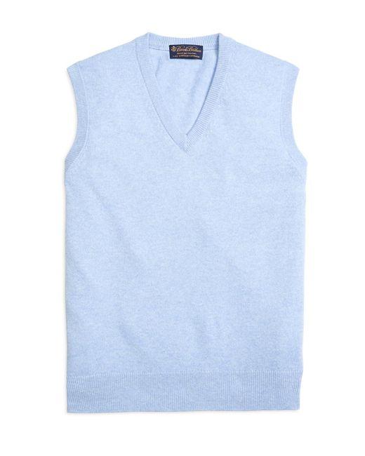 Brooks Brothers - Blue Cashmere Sweater Vest for Men - Lyst