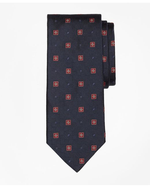 Brooks Brothers - Blue Parquet Square Medallion Tie for Men - Lyst