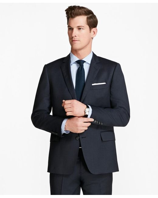 Brooks Brothers | Blue Regent Fit Screen Weave 1818 Suit for Men | Lyst