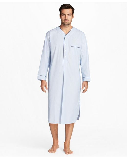 Brooks Brothers - Blue Mini-music Stripe Nightshirt for Men - Lyst