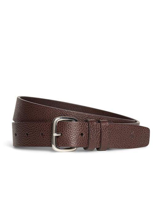 Brooks Brothers - Brown Harrys Of London® Scotch Grain Leather Belt for Men - Lyst