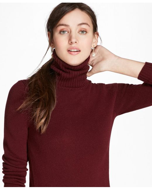 Brooks Brothers - Red Cashmere Turtleneck - Lyst