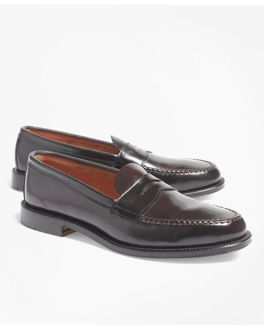 Brooks Brothers - Purple Cordovan Unlined Penny Loafers for Men - Lyst