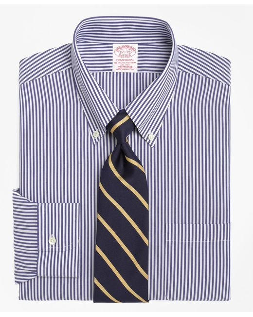 Brooks Brothers - Blue Non-iron Regent Fit Bengal Stripe Dress Shirt for Men - Lyst