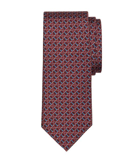 Brooks Brothers | Red Horsebit Link Print Tie for Men | Lyst