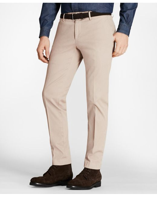 Brooks Brothers - Multicolor Garment-dyed Stretch Cavalry Twill Chinos for Men - Lyst
