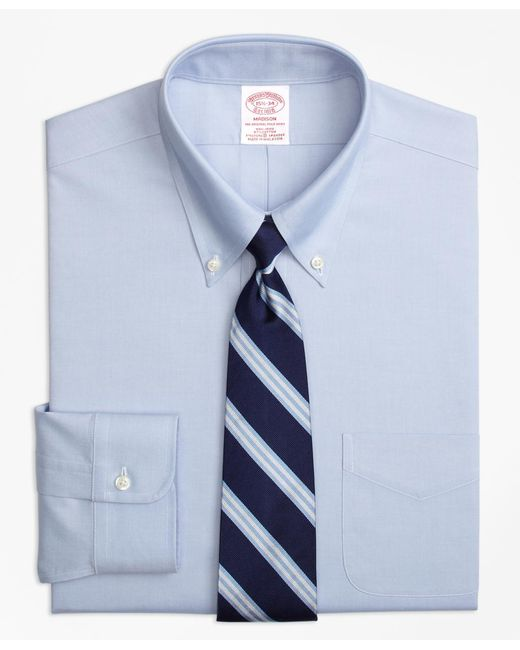 Brooks Brothers - Blue Non-iron Madison Fit Button-down Collar Stretch Dress Shirt for Men - Lyst
