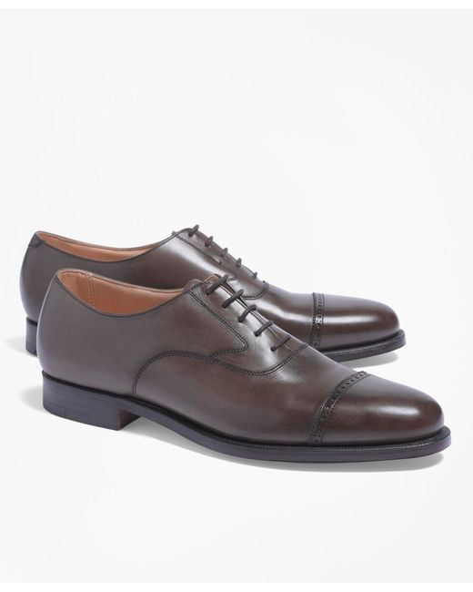 Brooks Brothers | Brown Peal & Co.® Perforated Captoes for Men | Lyst