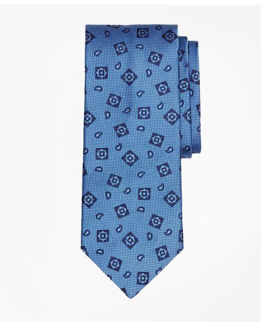 Brooks Brothers - Blue Tossed Alternating Medallion Tie for Men - Lyst