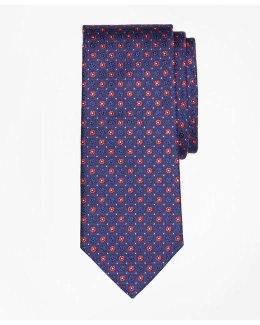 Brooks Brothers - Blue Framed Alternating Flower Tie for Men - Lyst