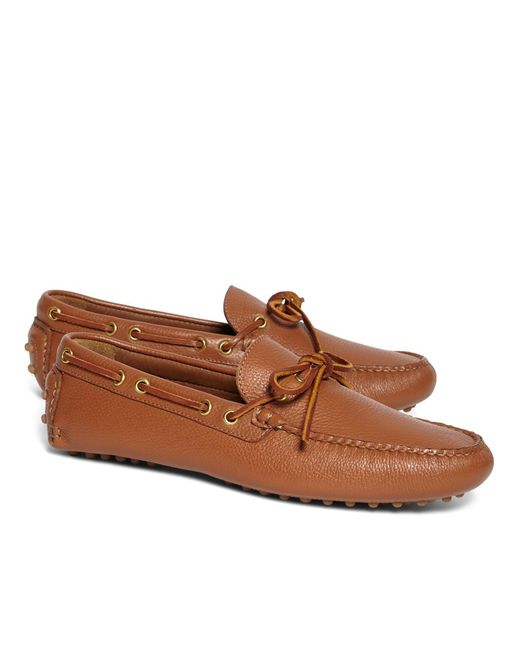 Brooks Brothers - Brown Tie Driving Moccasins for Men - Lyst