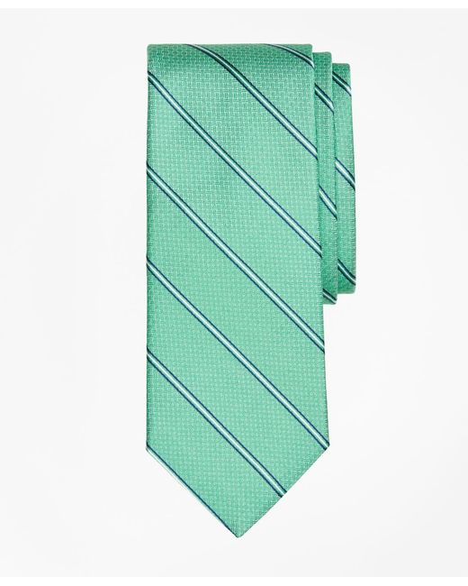 Brooks Brothers - Green Spaced Framed Stripe Tie for Men - Lyst