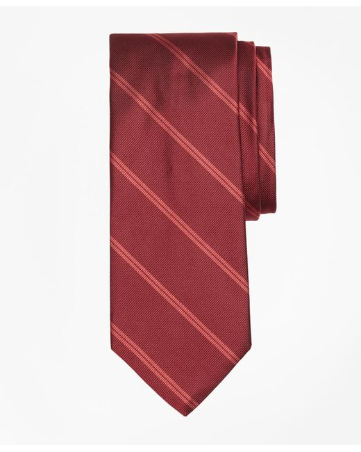Brooks Brothers - Red Double Stripe Tie for Men - Lyst